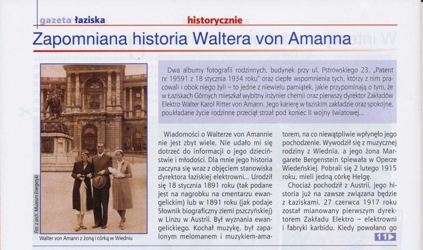 Zapomniana historia Waltera von Amanna