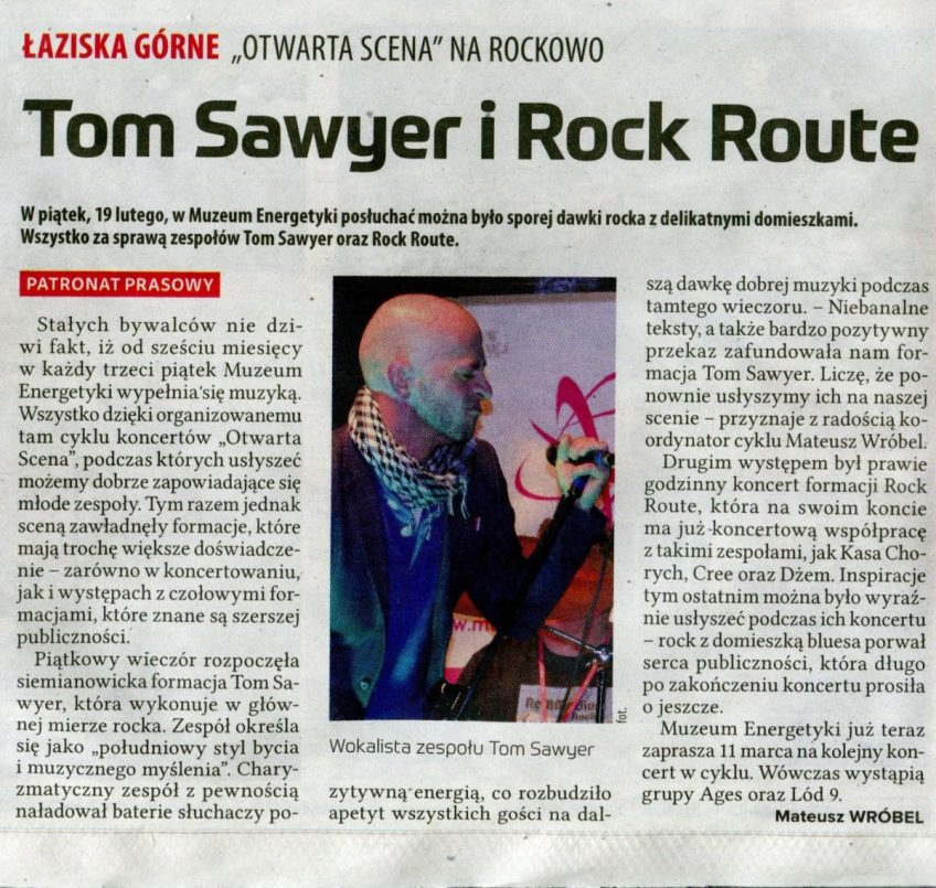 Tom Sawer i Rock Route