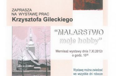 Krzysztof Gilecki wystawa