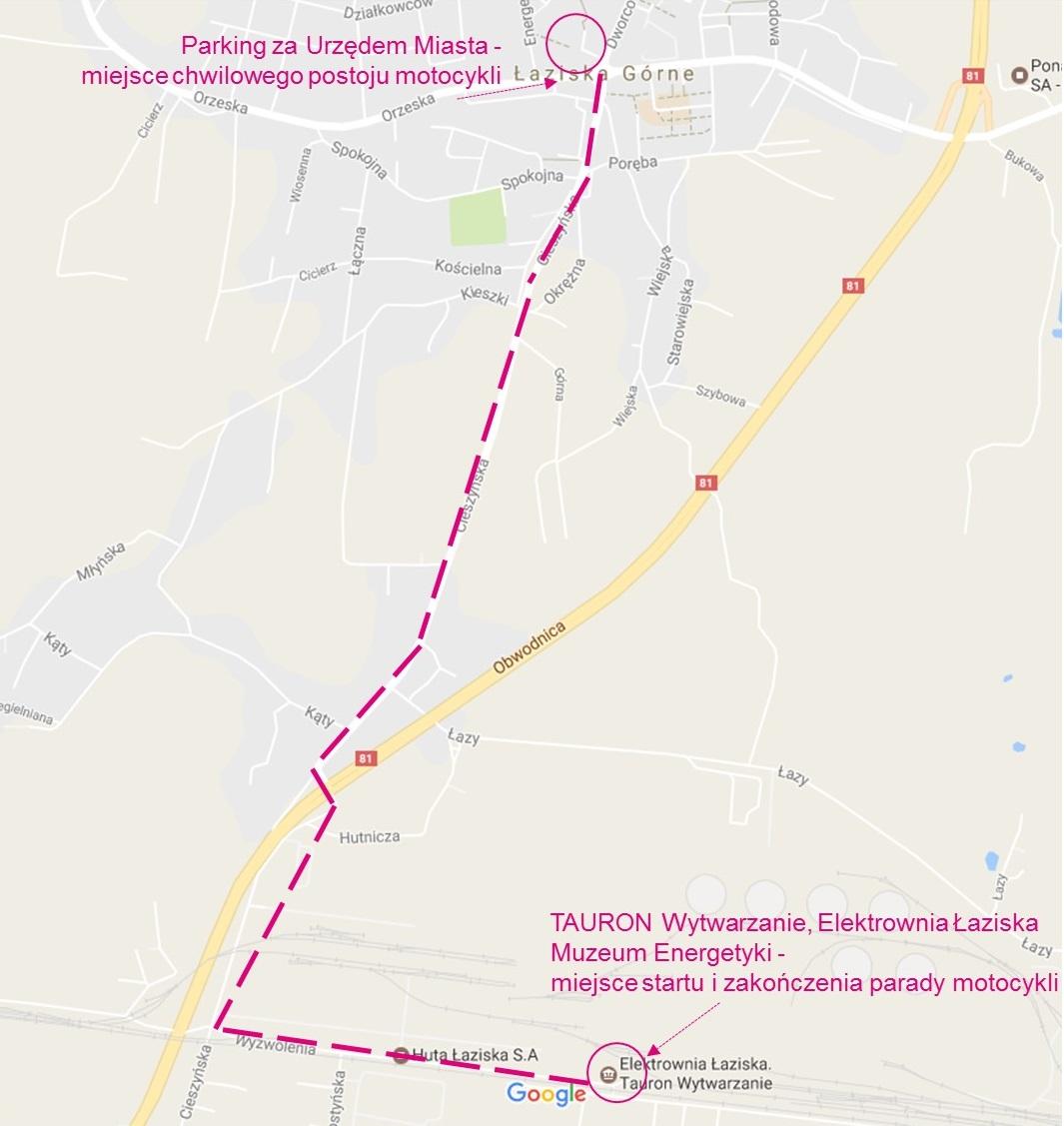 mapka przejazdu